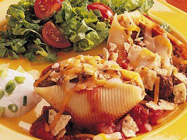 Taco Filled Pasta Shells