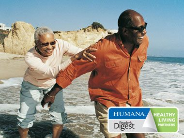 secrets of healthy americans couple at beach Humana/RD logo