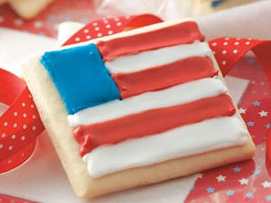 Sugar Star and Flag Cookies