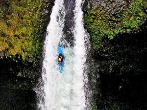 What It's Like to Kayak Over a Waterfall