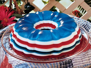 Patriotic Jell-o Salad