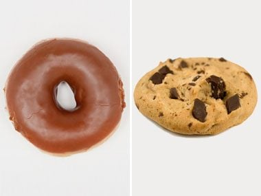 Sugar Showdown: Glazed Chocolate Doughnut vs. Chocolate Chip Cookie