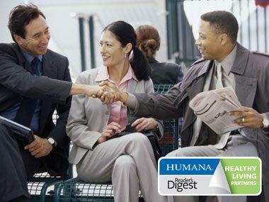 Humana healthy habits quiz germs, shaking hands