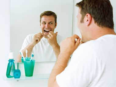 healthy habits germs, flossing