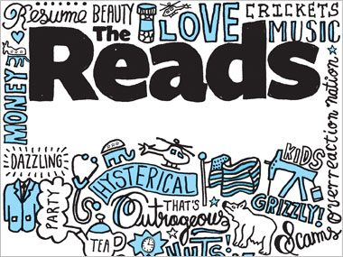 Finally: The title image of The Reads section, Reader's Digest, June 2012
