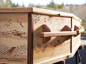 the gratitude club, signed casket