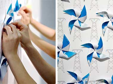 Windmills used for Metropolis magazine cover, May 2009. Designed with a team at COLLINS:
