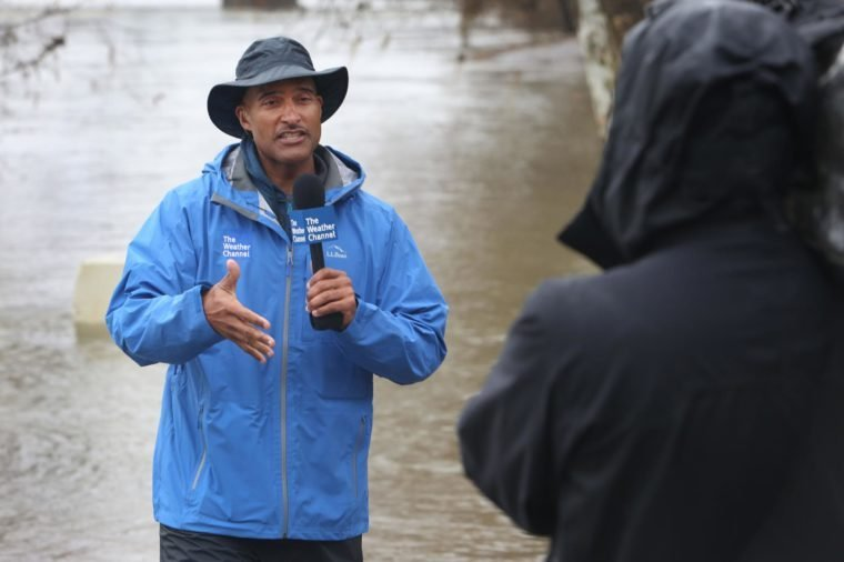 The Weather Channel on-camera meteorologist Paul Goodloe reports on severe weather in Sacramento, Calif