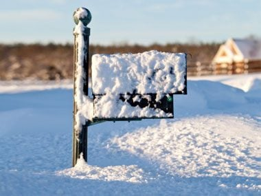 more mail carrier secrets, snow mailbox