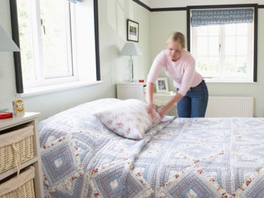 sleep guide, making bed