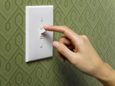 sleep guide, light switch