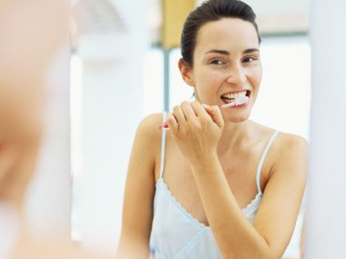 sleep guide, brushing teeth