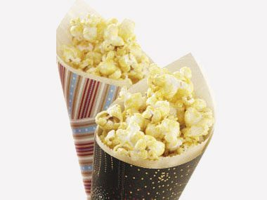 4th of July crafts, popcorn cones