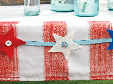 4th of July crafts, patriotic table toppers