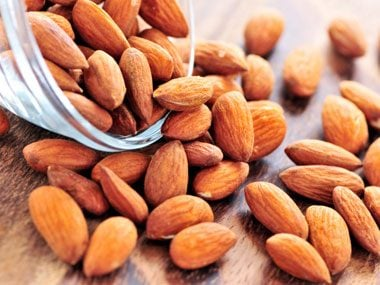 1. Roasted almonds—with the skins