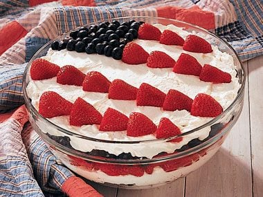 Red, White, and Blue Dessert