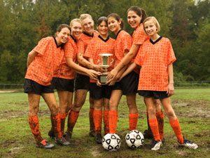 female athletes soccer