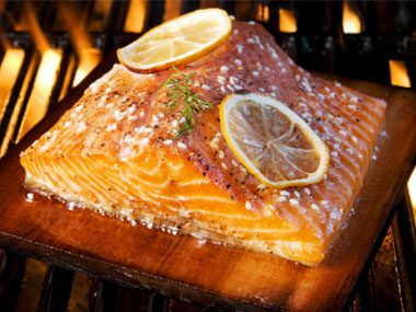 grilling secrets, fish on wood plank