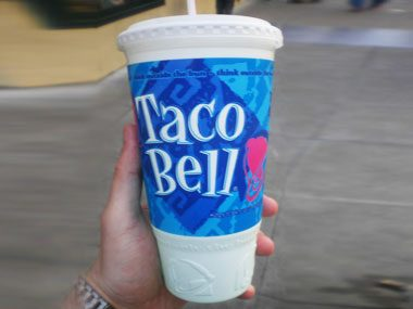 offensively huge beverages, Taco Bell