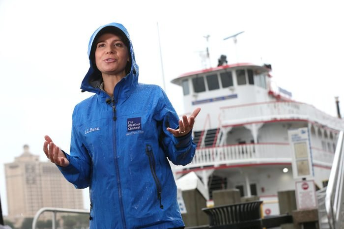The Weather Channel's Jen Carfagno reports on Tropical Storm Hermine as the storm moves through Savannah, in Savannah, Ga