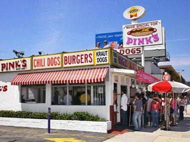 Hot Dogs at Pink's (Los Angeles)