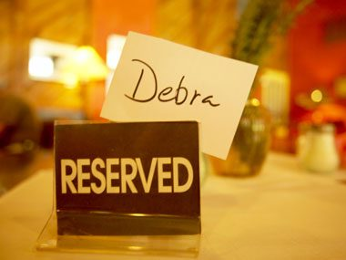 restaurant secrets, reserved table