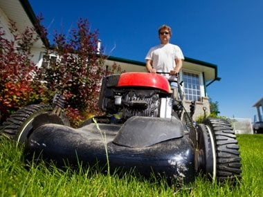 lies men tell women, mowing lawn