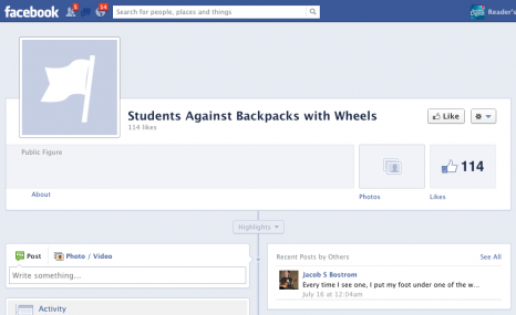 Students Against Backpacks with Wheels
