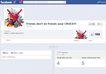 Friends Don't Let Friends Wear Crocs