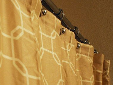 bathroom makeovers, shower curtain
