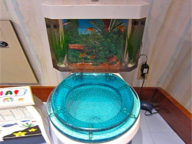There's something fishy about this toilet tank: