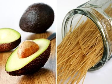 fiber quiz, avocado or whole wheat spaghetti