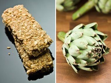 fiber quiz, cereal bars and artichokes