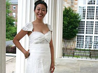 1. Toilet paper wedding gown