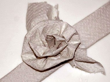 3. Toilet paper bouquet