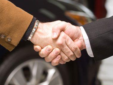 car dealer secrets, handshake