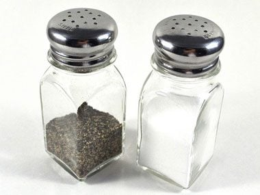 vacation rental packing, salt and pepper