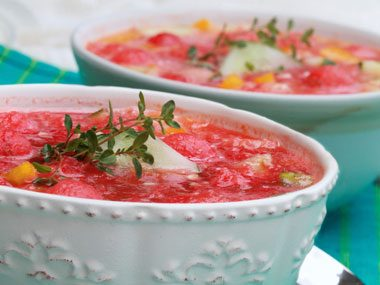 foodie things to try before summer ends, watermelon gazpacho