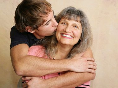 mother-in-law secrets, hugging son