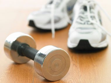 Combine Sneakers and Dumbbells