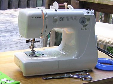9. Clean a sewing machine