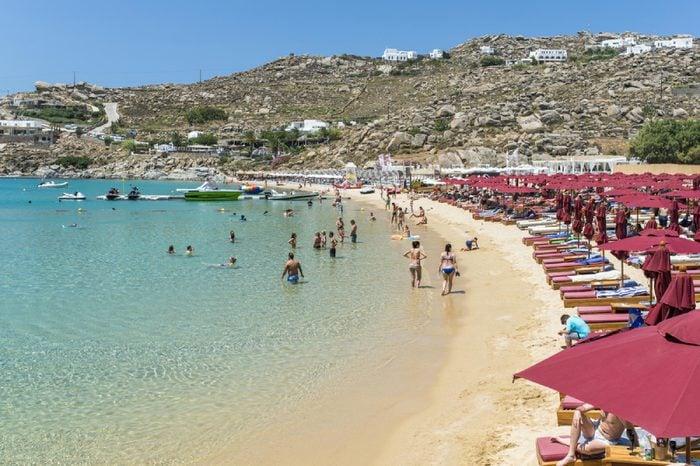 Super paradise beach, Mykonos, Greece June 2017