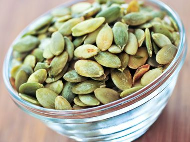 snack craving options, pumpkin seeds