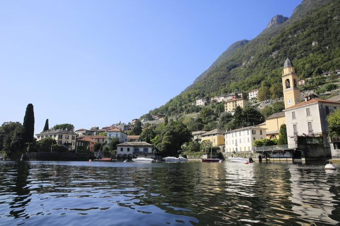 George Clooney summer residence Villa L'Oleandra in Laglio at Lake Como in Italy on September 25, 2014