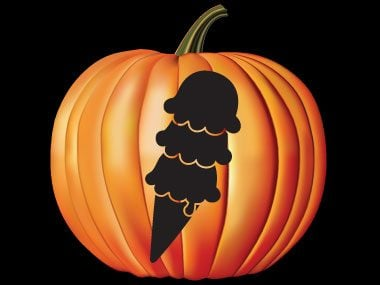 pumpkin carving stencils, ice cream cone