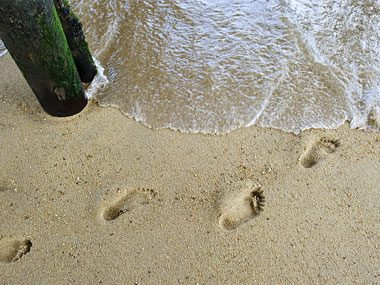 parents' tears of joy, footprints