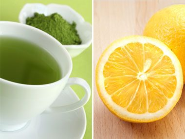 power food pairs for health, green tea and lemon