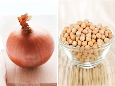 power food pairs for health, onion and chickpeas