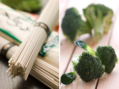 power food pairs for health, soba noodles and broccoli
