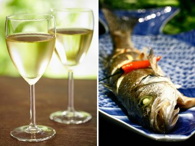 power food pairs for health, wine and fish